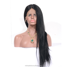 "Silky Straight Long Human Hair Wig, Best Natural Looking 4x4"" Silk Base Full Lace Wig, Cheap Lace Front Silk Top Wig Human Hair"