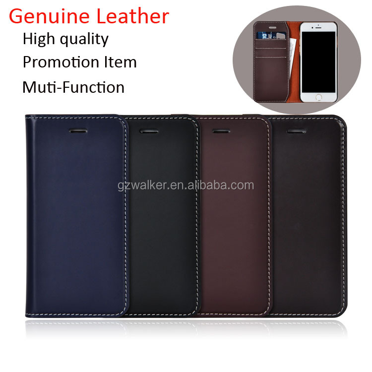 Genuine leather flip wallet phone case cover mobile phone leather case for iphone 6 7 plus leather case