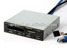 metal case all in one usb 2.0 card reader driver and super high speed 4 port usb 3.0 hub