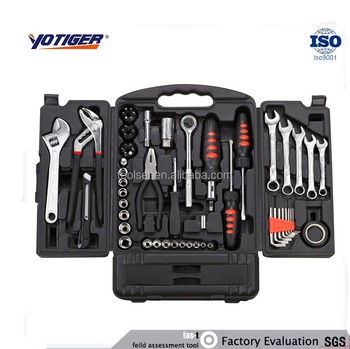 62Pcs Professional High Quality hand tool kit, Household Hardware Tools