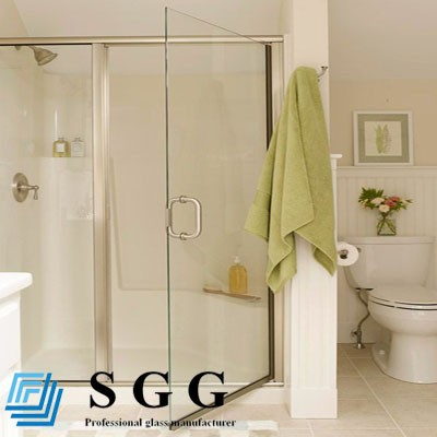 6mm clear tempered glass for shower door, screen, wall, enclosure, cabine