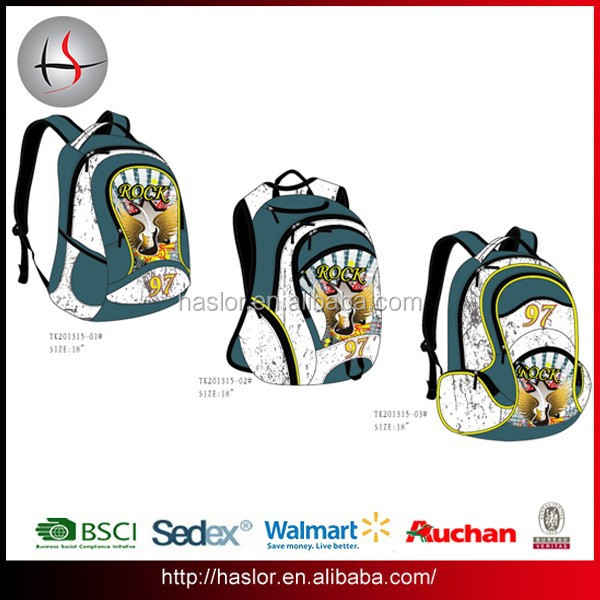 Boys cool rock guitar print school backpack kids school bags for primary students