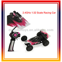 2.4GHz 2CH 1:32 Scale Super Speed Remote Control Racing Car Mini RC Electric Plastic Car