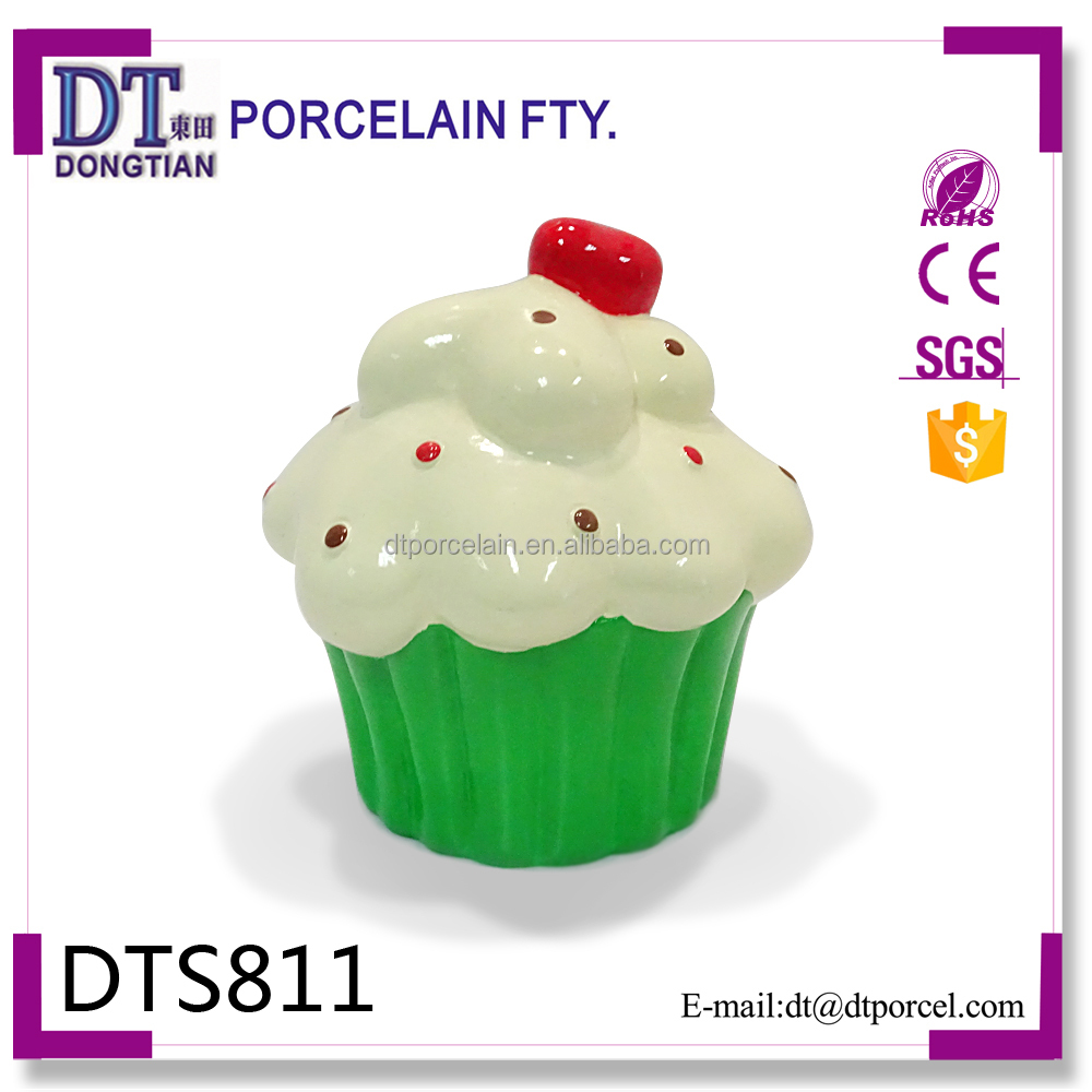 Cup Cake cheap coin bank,Painting Ceramic Money Bank