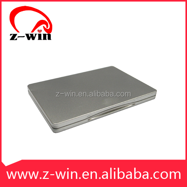 Z-WIN simple Metal Tin dvd case with clip