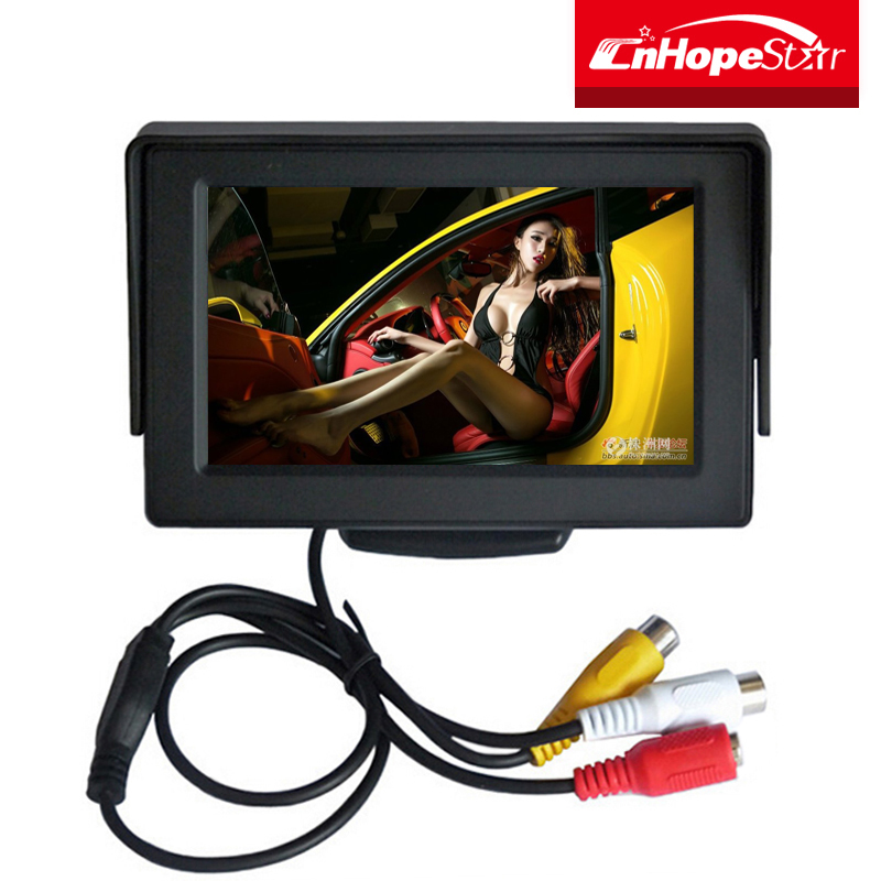 Portable stand alone 4.3 inch car rear view camera monitor