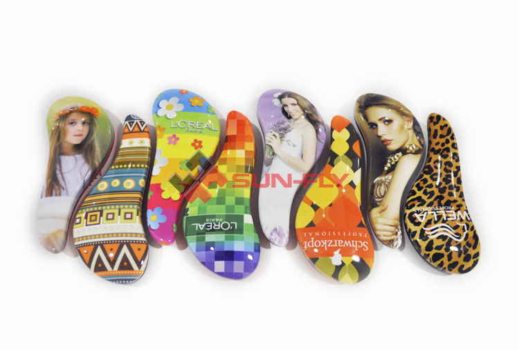 OEM 3d sublimation blank decorative magic custom hair brush comb