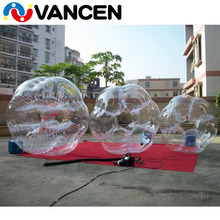 Vancen OEM 1.5m outer dia 45cm inner dia 1mm TPU material clear bumper ball body ball body bounce grass ball for outdoor funs