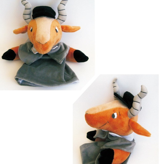 high quality New design cute goat animal finger hand,hand puppets toy for sale