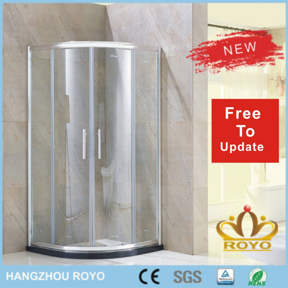 2 sided aluminum shower cubicle dimensions free standing