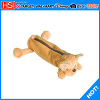 BSCI audited wholesale new products plush animal pencil case toys