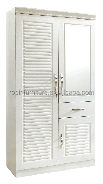 wardrobe 2 doors ivory color with mirror