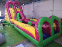 Gaint commercial grade cheap colorful inflatable jumping slides obstacles course for sale B5019