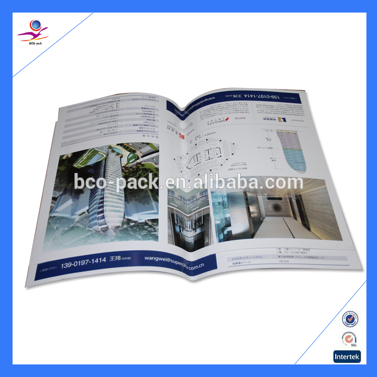 Saddle stitching full color printing booklet with your design