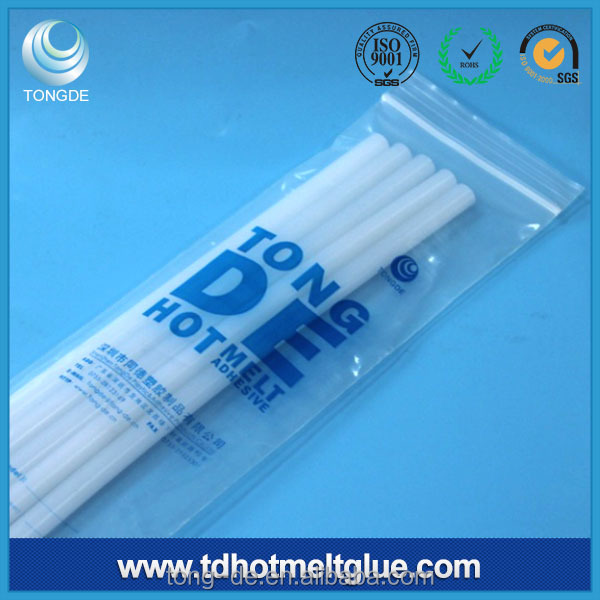 Milky White Hot Melt Glue Stick for Plastic, PP PE Printing ink Coated Packaging Materials