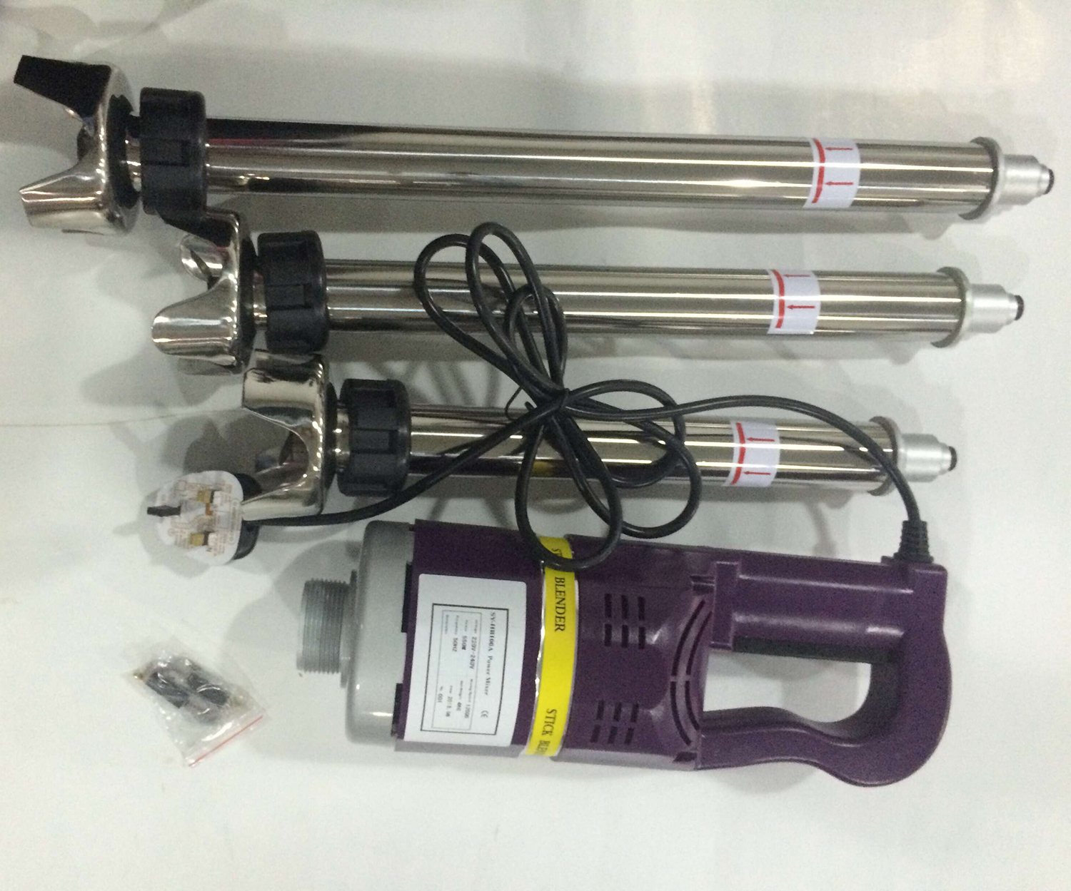 Hot Selling Commercial Immersion Blender Single Speed Power Drive Stainless Steel Bar