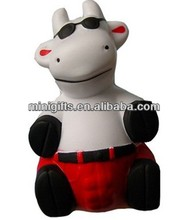 Anti Stress PU Milch animal Cow with glasses