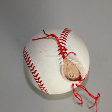 9inch Leather&Rubber Core Safety Baseball