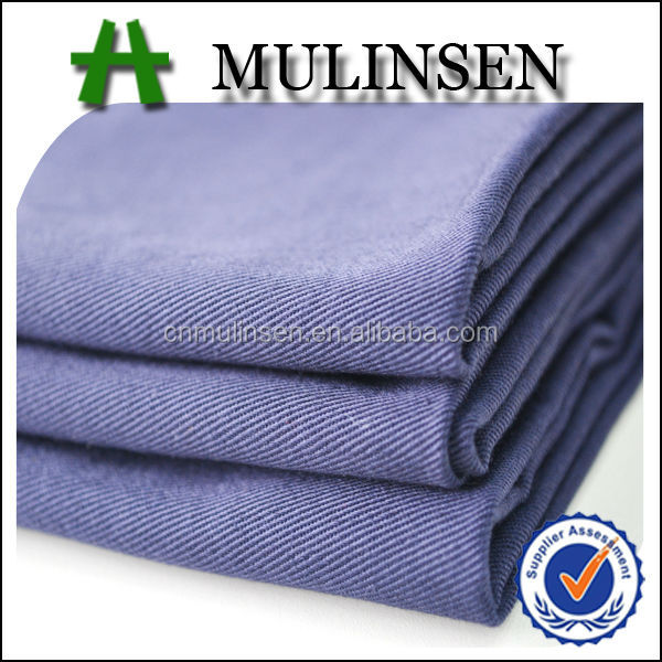 Mulinsen Textile 80% Polyester 20% Cotton 21s*21s Solid Dyed Twill Fabric
