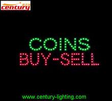 hot sale china factory price COIN BUY SELL animated led sign
