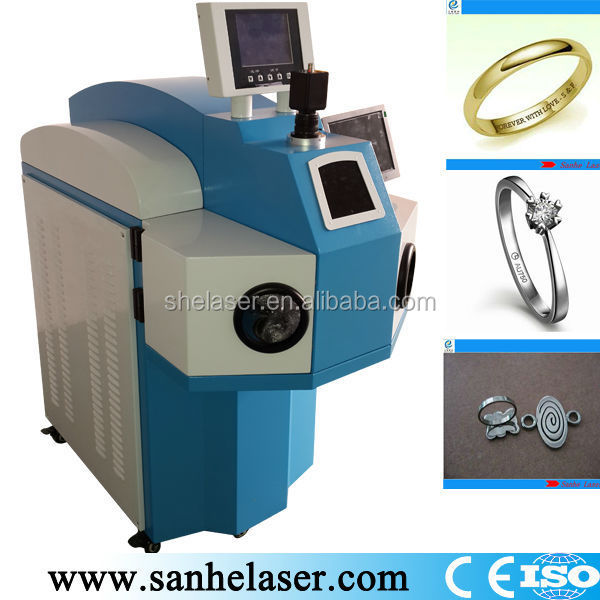 jewellery gold silver laser spot soldering machine