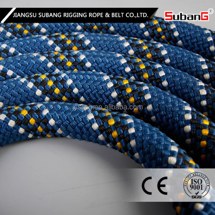 Polyester or Nylon climbing rope with high breaking strength