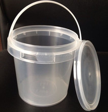 Clear Plastic Tamper Proof Tubs Pot Buckets Storage Containers 1L with Lid