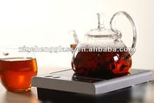 Heat resistant borosilicate glass electric chinese hot water pot with candle(600ml)