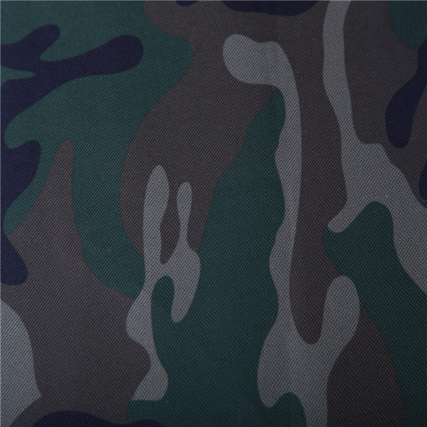 600D polyester oxford woven camouflage printed fabric with pvc coating