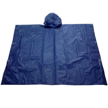 HOT sale Promotional cheap price long PVC rain poncho blue color in stock for bike