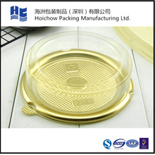 New arrival cheap plastic clear round cupcake box packaging