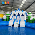 Inflatable animals water park inground pool slides for kid