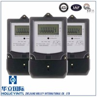 Optional transparent top cover and terminal cover Single Phase Two Wire Energy Meter Manufacturer