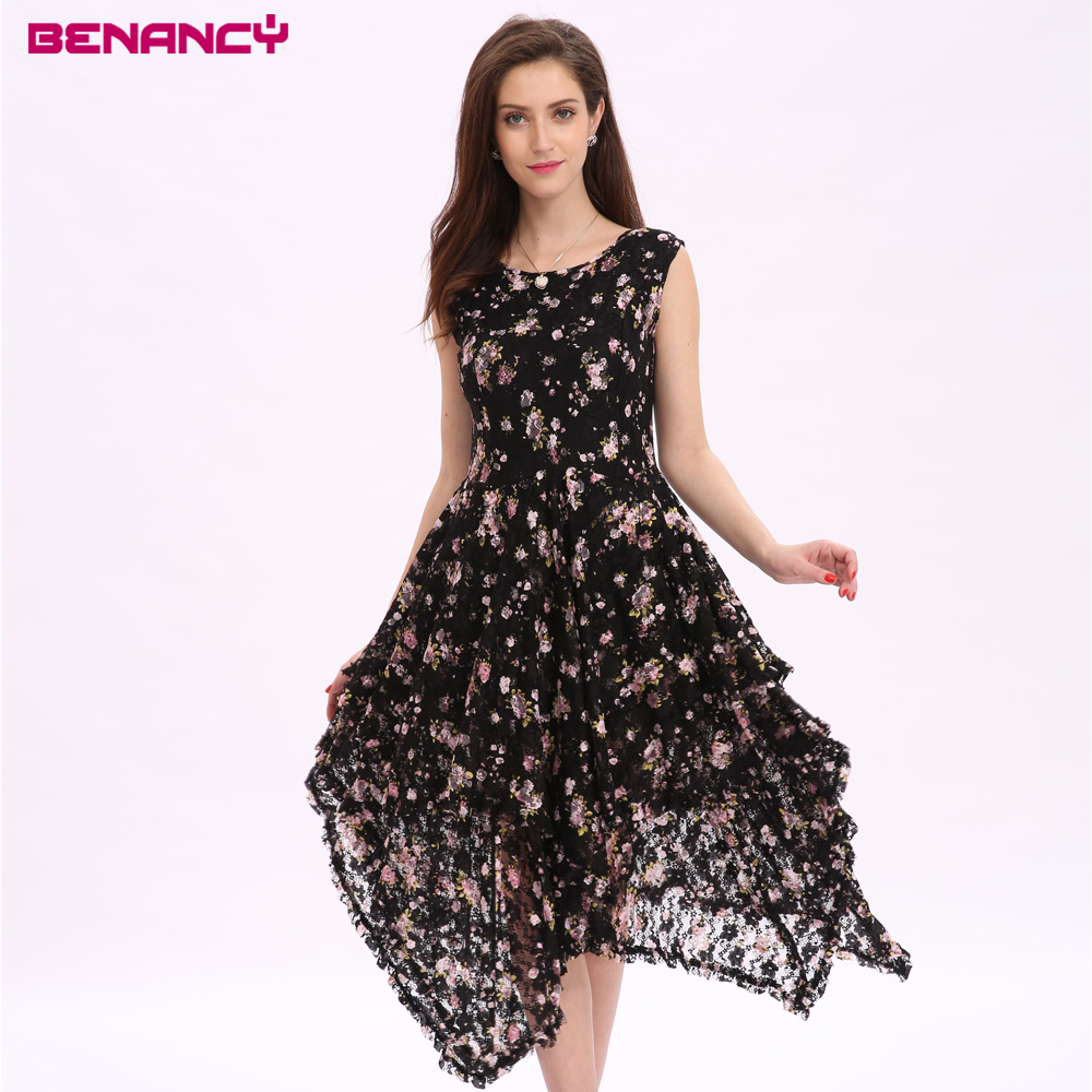 Latest Party Designs Summer Elegant Ladies Floral Print Draped Evening Dress