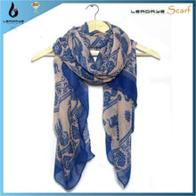 animal elephant print europe scarf