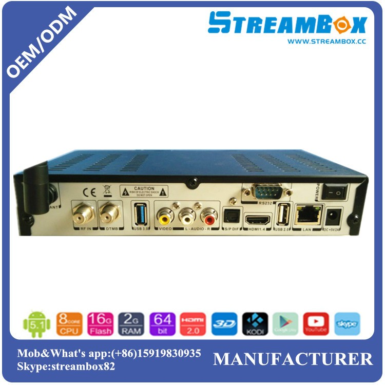 Digital Box Tv Android Combo Dvb-s2+t2+c Power Vu Hi3796 Usb Blue3 ...