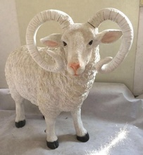 polystone sheep sculpture