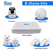Wireless intelligent alarm system home security 8CH NVR gateway