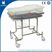 BT-AB109 China manufacturer CE ISO stainless steel frame hospital bamboo kid bed