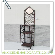 iron bathroom dressing table with rack