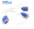 1 Male To 2 Female VGA SVGA Connector Cable Extension Monitor VGA Splitter Cable for Computer PC Laptop