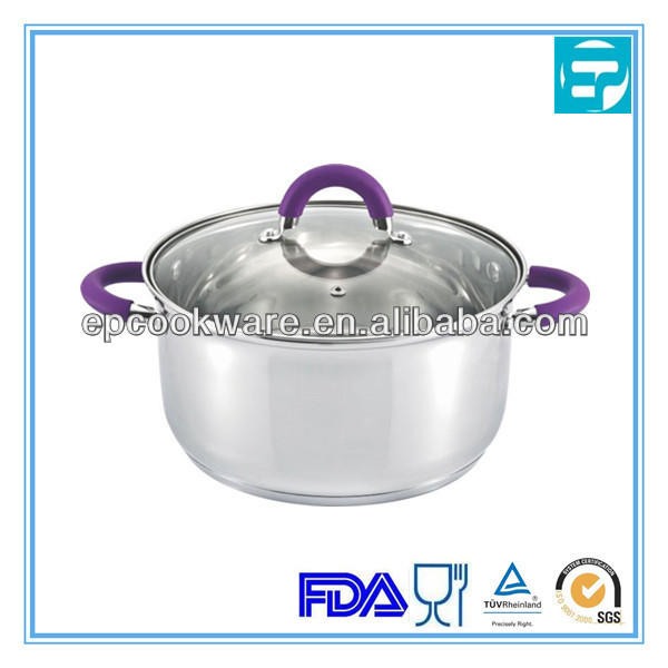 colorful household casserole with silicon handle and knob