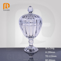 Beauty crystal european classical decorative glass candy jar for gift