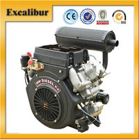 Excalibur New Performance V-Twin 20HP Air-cooled Two-Cylinder Diesel Engine with Large Fuel Tank