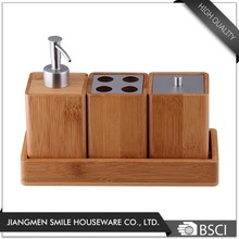 Customized cheap bathroom sets, bamboo bathtub accessories wholesale
