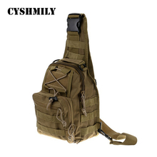 CYSHMILY Outdoor Sports Shoulder Military Hiking Camping Bag Tactical Backpack Chest Bag