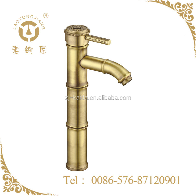 Antique Bronze Bamboo shape Wash Basin Mixer Faucet