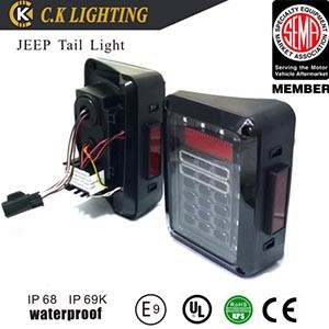 Europ/US version auto accessories led tail light for Jeep wrangler