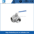 "DN25 G1"" Port Size Female 3-Way T-Port 304 Stainless Steel Ball Valve"