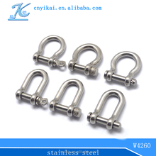 NEW 5mm adjustable shackle for paracord shackle/silver adjustable shackle with clevis pin/adjustable d shackle